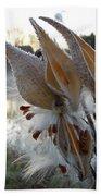 Milkweed Pods Seeds Bath Towel
