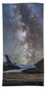 Milky Way Over Athabasca Glacier Bath Towel