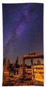 Milky Way Over Old Corral Bath Towel