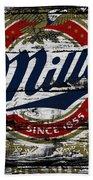 Miller Beer 5b Bath Towel