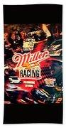 Miller Racing Sign 25th Year Bath Towel