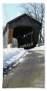 Millrace Park Old Covered Bridge - Columbus Indiana Bath Towel