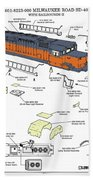 Milwaukee Road Sd-40 Pop-art Bath Towel
