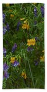 Mimulus And Vetch Bath Towel
