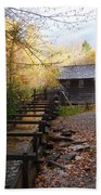 Mingus Mill Fall Color Great Smoky Mountains National Park Bath Towel