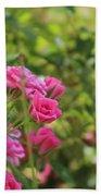 Miniature Fuchsia Roses Bath Towel