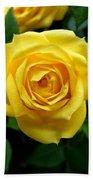 Miniature Yellow Rose Bath Towel