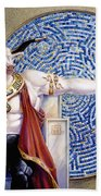 Minotaur With Mosaic Hand Towel