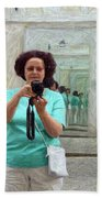 Mirrored Self-portrait Bath Towel