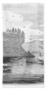 Mississippi River, 1854 Bath Towel