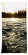 Mississippi River Dawn Reflection Bath Towel