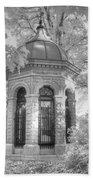 Missouri Botanical Garden Henry Shaw Crypt Infrared Black And White Bath Towel
