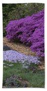 Missouri Botanical Garden Purple Azaleas Dsc01692 Bath Towel