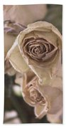 Misty Rose Tinted Dried Roses Bath Towel