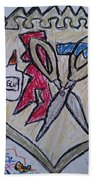 Mixed-media Mobb Bath Towel
