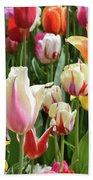 Mixed Tulips Bath Towel