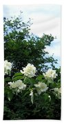 Mock Orange Blossoms Bath Towel