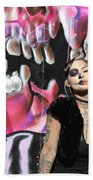 Model Day Of The Dead  Hand Towel