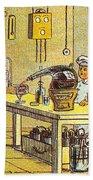 Model Kitchen, 1900s French Postcard Bath Towel