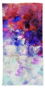 Modern Abstract Painting In Blue Bath Towel