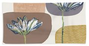 Modern Fall Floral 1- Art By Linda Woods Hand Towel
