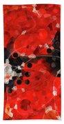 Modern Red Poppies - Sharon Cummings Bath Towel