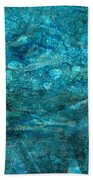 Modern Turquoise Art - Deep Mystery - Sharon Cummings Bath Towel