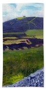 Moel Famau Hill Painting Bath Towel