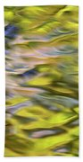 Mojave Gold Mosaic Abstract Art Hand Towel by Christina Rollo