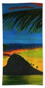 Mokolii Sunset #80  Hand Towel