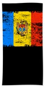 Moldova Gift Country Flag Patriotic Travel Shirt Europe Light Hand Towel