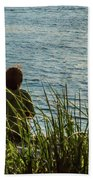 Mother And Son Bath Towel by Ed Clark