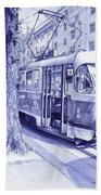 Moment In Prague - Ballpoint Pen Art Bath Towel