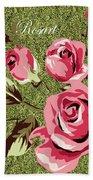 Mom's Day Elegance Vintage Rose Bath Towel