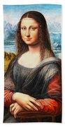 Mona Lisa Painting Bath Towel