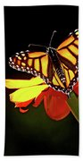 Monarch And Tithonia Light And Shadow Bath Towel