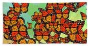 Monarch Butterflies Bath Towel