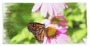 Monarch Butterfly Art Bath Towel