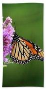 Monarch Butterfly On Butterfly Bush 2011 Bath Towel