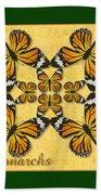 Monarch Butterfly Pin Wheel Bath Towel