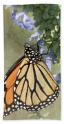 Monarch Butterfly Textured Background Bath Towel