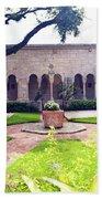 Monastery Of St. Bernard De Clairvaux Garden Bath Towel