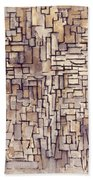 Mondrian: Composition, 1913 Bath Towel