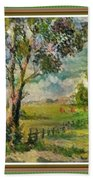 Monetcalia Catus 1 No. 3 Landscape Scene Near Fontainebleau L B With Alt. Decorative Printed Frame. Bath Towel