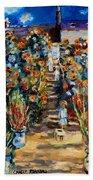 Monets Flower Garden Bath Towel