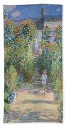 Monet's Garden At Vetheuil Bath Towel