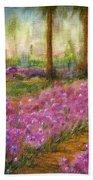 Monet's Garden In Cannes Bath Towel