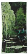 Monet's Garden Bath Towel