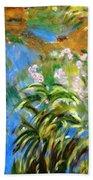 Monet's Irises Bath Towel