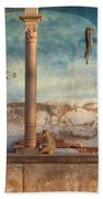Monkeys At Sunset Bath Towel
